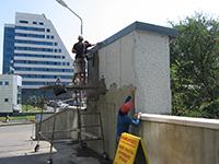 Нанесение состава ЛАХТА® штукатурная гидроизоляция