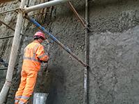 Западный скоростной диаметр (ЗСД) в районе реки Смоленка (Санкт-Петербург) Восстановление геометрии стен тоннелей ЗСД с использованием материала ЛАХТА® ремонтный состав базовый (2016)